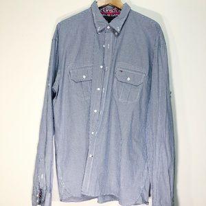 Tommy Hilifiger Dress Shirt XL VTG fit